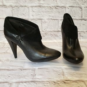 COACH Annika Black Leather Suede Ankle Boots 5
